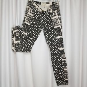 Current/Elliot Seamstress Patchwork skinny jeans